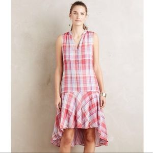 Anthropologie Maeve Pippa Plaid Swing Dress